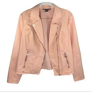 ✨3 for $20 Kate & Mallory Peach Zip Up Jacket L